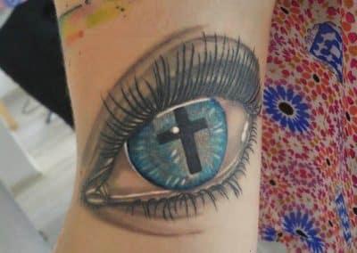 Auge Kreuz