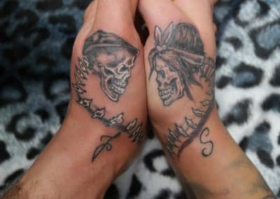 Partner Tattoo Totenkopf